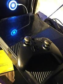 Xbox one with controller and wires
