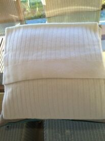 The White Company cashmere cushion. covers