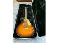 Les Paul R/H electric guitar and Stagg guitar hard case