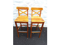 Pine Bar/Kitchen breakfast bar chairs