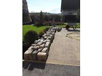 Quantity of granite and basalt stone setts