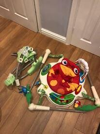 Jumperoo baby bouncer jungle toy