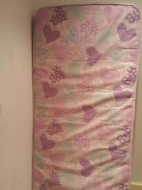 pink hearts single mattress