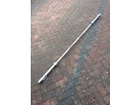 7ft Olympic Sized Weight Lifting Bar with Spring Locks