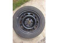 Winter tyres on steel wheels x 4