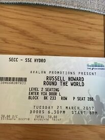 3 Russell Howard tickets tues 21st march 2017 at secc hydro glasgow