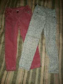 Girls trousers for 4-5 years old, Next