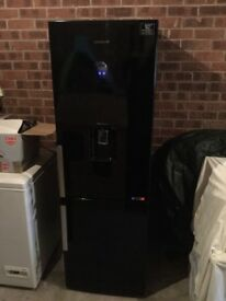 Black Samsung Fridge/Freezer + Black Servis Washing Machine + Black Swan Microwave