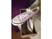 Light pink canvass pumps size 7