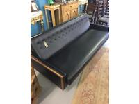 Black Leather Sofa / Bed