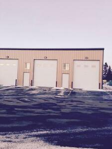 1500-3000sq/ft industrial shop bays for rent