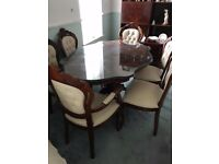 Dining table and chairs like new condition EMACULATE