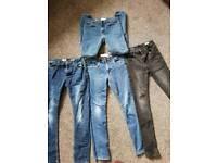 4 pairs boys jeans, 1 pair denim shorts