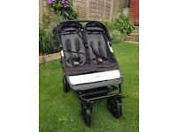 Double mountain buggy duet with carry cot