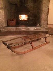 Vintage sledge coffee table