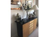 Gorgeous sideboard/cupboard 2 end cupboards and six drawers