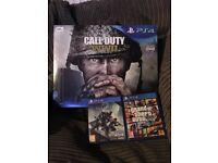 PS4 slim console 500gb Black with 2 games destiny 2 & gta 5