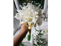 Wedding flowers and veil