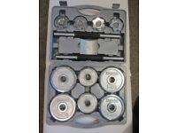 DOMYOS 14kg Cast Iron Dumbells