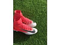 Nike mercurial superfly 5 pink white black size 8 football boots