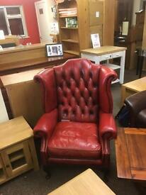 Chesterfield wingback armchair * free furniture delivery*