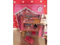 ELC Dolls / Barbie Mansion with furniture & Barbie Car. Excellent Condition... RRP £160+