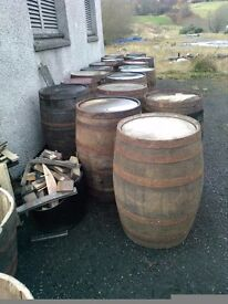 Recycled whisky barrels