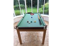 6 x 3ft Snooker table with legs