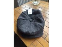 RIVER ISLAND MENS GREY BAKER BOY HAT