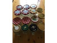 Jam and honey jars