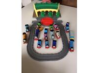 Thomas and friends take and play Tidmouth sheds playset and 15 Die-cast engines for sale