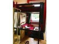 Nice mezzanine single room, wooden floor , in quiet flatshare with terrace