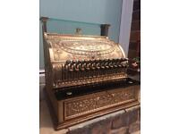 Antique National Cash Register Brass Shop Till