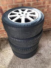 "4 x 16"" ford mondeo alloys (5 stud) with tyres"