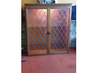 Shabby Chic Glass and Wood Display Cabinet