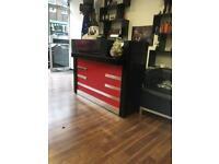 Barber salon hairdresser reception desk