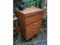 Retro Teak Tallboy Chest of Drawers