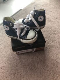 Infant converse size 3 high top trainers