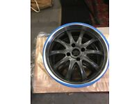 VIBE ALLOY WHEELS PEUGEOT FIT MINT CONDITION NEVER FITTED