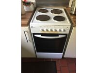 Electric oven, 4 hobs, grill, all in good working order. 50cm wide