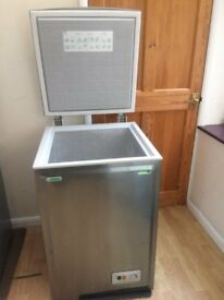 BRUSH STAINLESS STEEL NORFROST CHEST FREEZER IN GOOD WORKING CONDITION.
