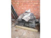 Used Victorian slate roof tiles