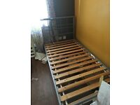 Silver single bed frame