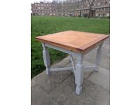 Vintage extendable draw leaf dining table. Rustic shabby chic. Stone white. Local delivery.