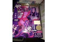 Twilight sparkle my Little Pony and doll new boxed Damaged will post for £3