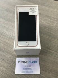 WITH RECEIPT - IPHONE 7 - ROSE GOLD - 32GB - UNLOCKED