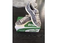 Puma Clyde snake trainers