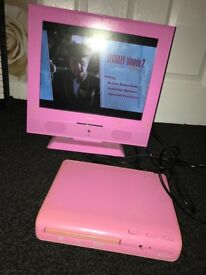 Pink TV & DVD player