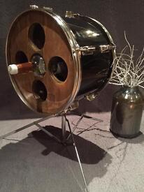 Upcycled Drum Wine Rack
