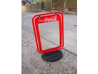 Coca-Cola PAVEMENT POSTER Street SIGN A-BOARD SHOP DISPLAY STAND